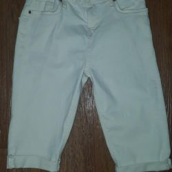 Pantaloni scurți din denim alb 26 p.
