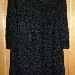 New astrakhan fur coat