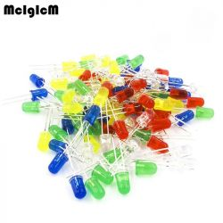 LEDs with a diameter of 5mm colored MCIGICM.