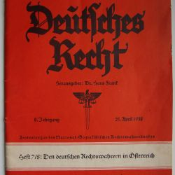 Deutsches Recht Dergisi 1938 3. Reich Almanya
