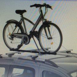 Bir arabanın bagajında bisiklet taşıyıcısı Amos 1