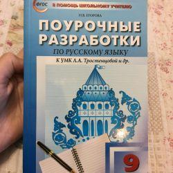Поурочные разработки по русскому языку 9 класс