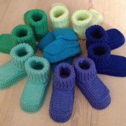 Вязаные пинетки (носочки) готовые