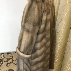 Mink coat large size