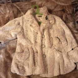 Fur jacket for spring, autumn