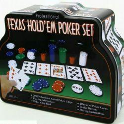 Гра Покер в залізному футлярі, 2 колоди, 200 фішок, до