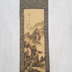 Canvas painting from Chinese silk