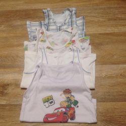 4-6 yaş arası çocuklar için tişörtler.