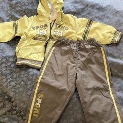 Children's demi-season suit jacket and pants