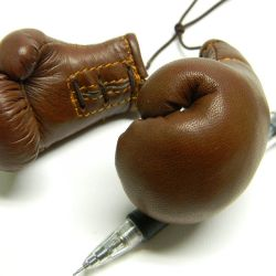 Boxing gloves, souvenir from genuine leather