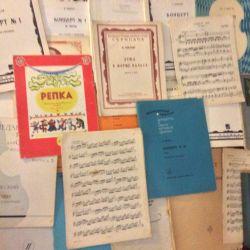 Keman ve piyano için notalar