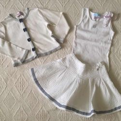 Blumarine baby skirt and tank top
