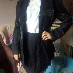 Elbise etek ceketi mavi