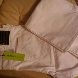Новые белые джинсы Versace