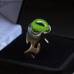 Ring with the eye of the Nile crocodile