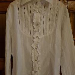 Блузка белая NOBLE PEOPLE