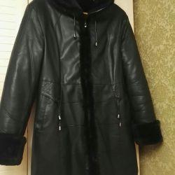 R.48-50 παλτό από δέρμα προβάτου