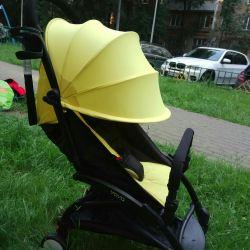 Yellow stroller yoya 165 ° rent