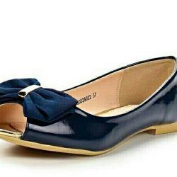 Παπούτσια δερμάτινων παπουτσιών Νέες. Μέγεθος 41
