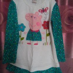 Туника платье на 3-6 лет