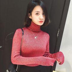 ✨Thin knitting, turtleneck with lurex🌈