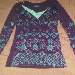 Μακρύ μανίκι πουλόβερ που θηλάζει αγαπώ μαμά
