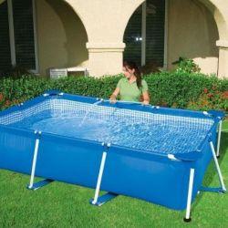 The pool is frame rectangular