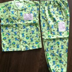 New Pajamas on the kid