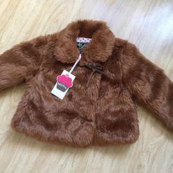 Fur coat jacket new !!! R. 74