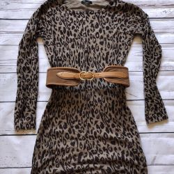 The dress is ideally leopard