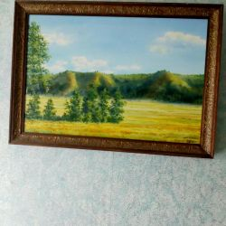 Painting canvas oil 49 * 35 cm.