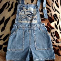 Denim overalls - shorts