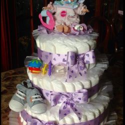 Cake from pampers