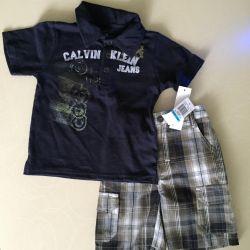 Un nou set de Jeans Calvin Klein pe râu 80-86 cm