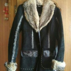 Natural sheepskin coat time 42-44