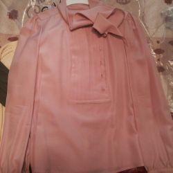 Nou bluză de mătase