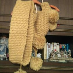 Set of hat, mittens, scarf