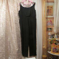 The overalls are elegant