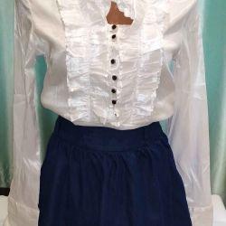 Yeni bluz 42-44 boyutu streç