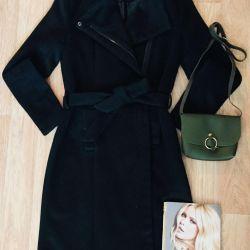 Coat midi robe, bag