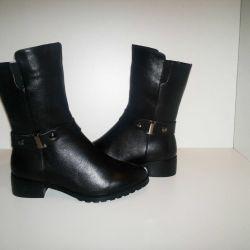 Winter Boots Nat leather + Nat fur * 36r- 41r