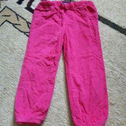 Pantolonlar ısınmış, 92-98cm