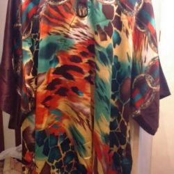 Tunic, new, silk, overtaking р.52-60