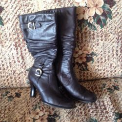 Cinta Leather Boots