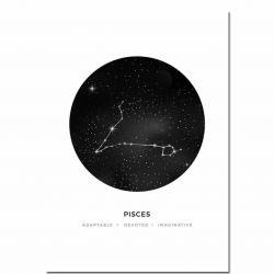 Canvas zodiac sign Pisces