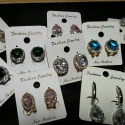 Earrings-jewelry made of medical alloy