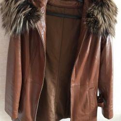 Sıcak deri ceket