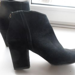 Boots-natural suede