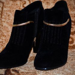 Booties with a steady high heel