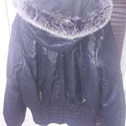 Jacket with nat fur